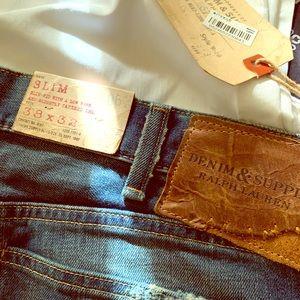 Men's Ralph Lauren Denim & Supply blue jeans.